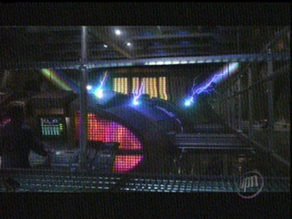 Jacob's Ladders shooting off the warp core